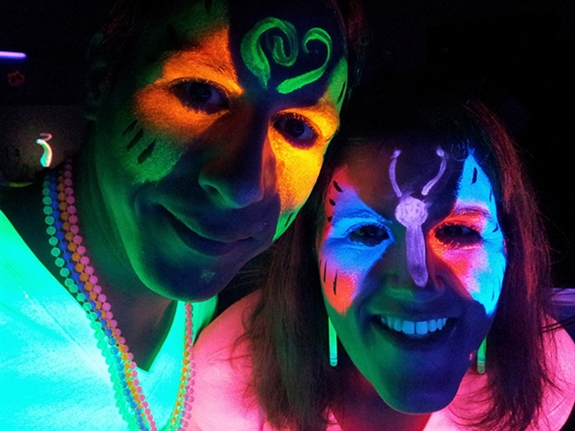 glow-in-the-dark face paint