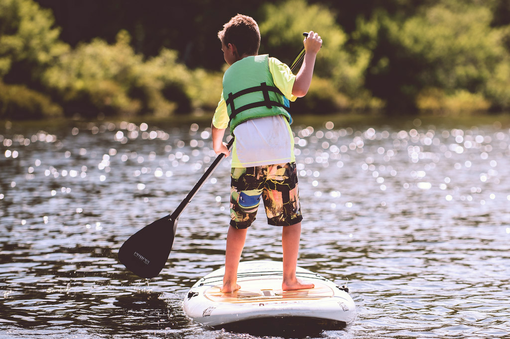 Kid-on-Paddleboard