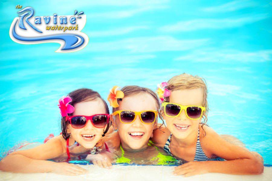 Ravine Waterpark girls in pool