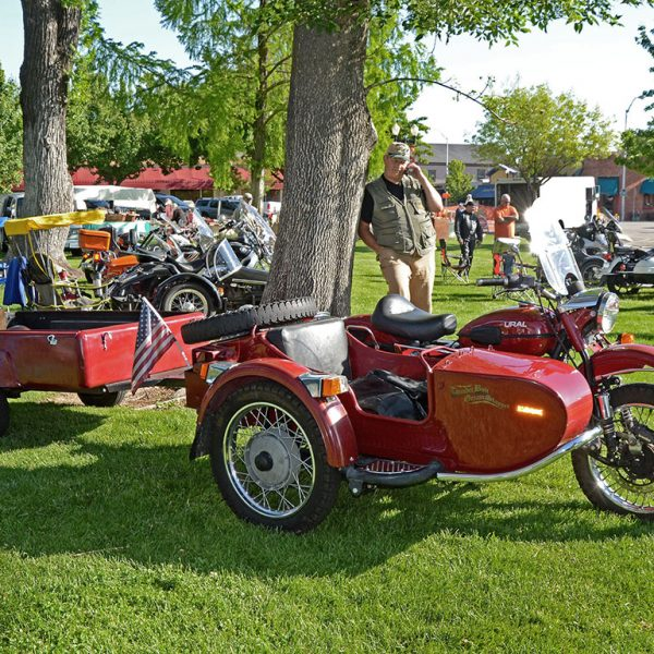 vintage sidecar show Paso Robles