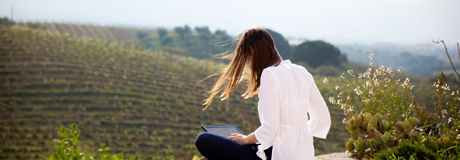 woman in Paso Robles vineyards